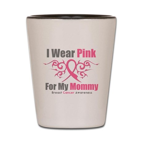 Pink Ribbon Tribal - Mommy Shot Glass