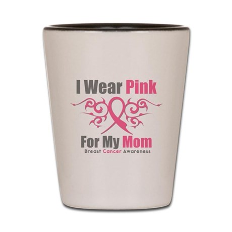 Pink Ribbon Tribal - Mom Shot Glass