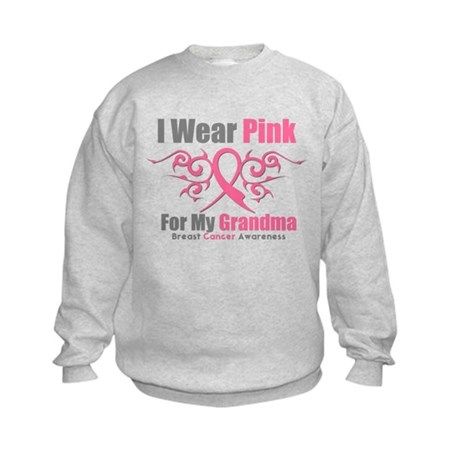 Pink Ribbon Tribal - Grandma Kids Sweatshirt