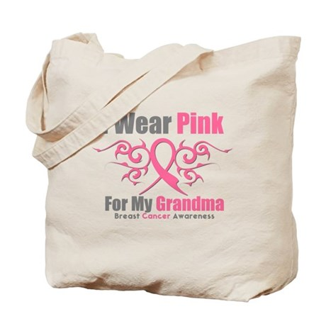 Pink Ribbon Tribal - Grandma Tote Bag