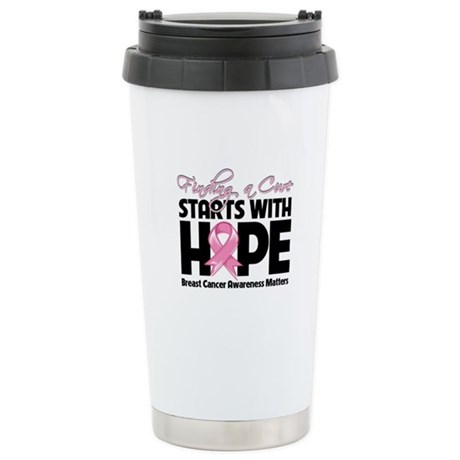 Breast Cancer Finding A Cure Ceramic Travel Mug