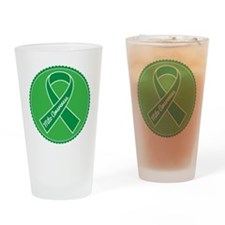 Mito Research Green Ribbon Drinking Glass