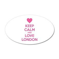 Keep calm and love london 38.5 x 24.5 Oval Wall Pe