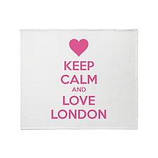 Keep calm and love london Throw Blanket
