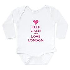 Keep calm and love london Long Sleeve Infant Bodys