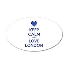 Keep calm and love london 22x14 Oval Wall Peel