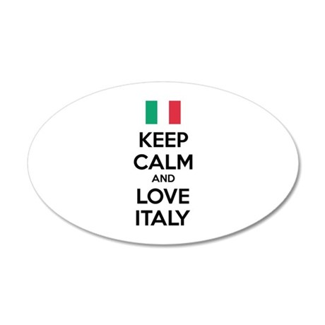 Keep calm and love Italy 38.5 x 24.5 Oval Wall Pee