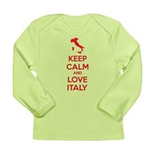 Keep calm and love Italy Long Sleeve Infant T-Shir