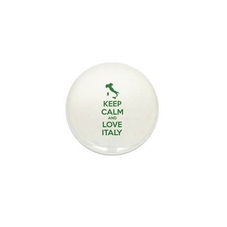 Keep calm and love Italy Mini Button (100 pack)