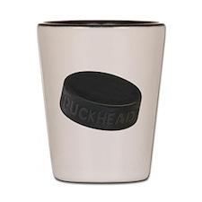 Hockey Puckhead Shot Glass