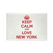 Keep calm and love New York Rectangle Magnet (100
