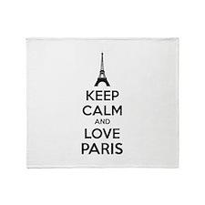 Keep calm and love Paris Throw Blanket