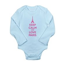 Keep calm and love Paris Long Sleeve Infant Bodysu