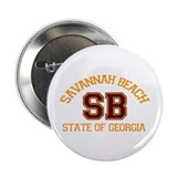 "Savannah Beach GA - Varsity Design. 2.25"" But"