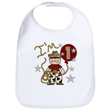Cowboy First Birthday Bib