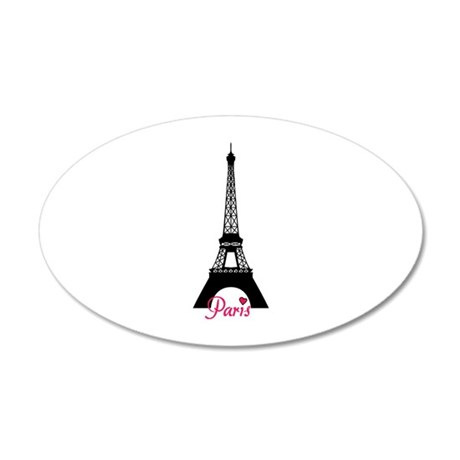J'adore la France 38.5 x 24.5 Oval Wall Peel