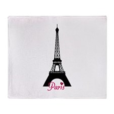 J'adore la France Throw Blanket