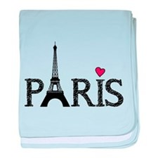Paris baby blanket