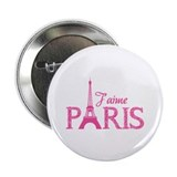 "J'aime Paris 2.25"" Button (100 pack)"