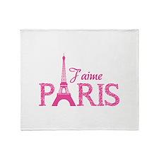 J'aime Paris Throw Blanket
