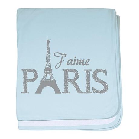 J'aime Paris baby blanket