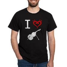 I Heart Double Bass T-Shirt