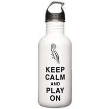 Keep Calm & Play On Sports Water Bottle