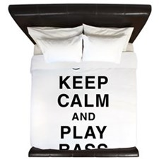 Keep Calm & Play Bass King Duvet
