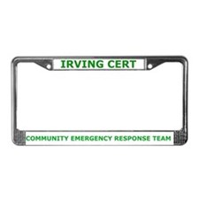 Irving CERT License Plate Frame