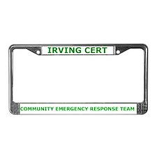Irving CERT License Plate Frame