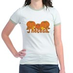 Halloween Pumpkin Theresa Jr. Ringer T-Shirt
