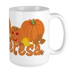 Halloween Pumpkin Theresa Large Mug