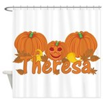 Halloween Pumpkin Theresa Shower Curtain