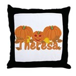Halloween Pumpkin Theresa Throw Pillow