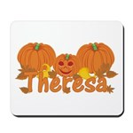 Halloween Pumpkin Theresa Mousepad