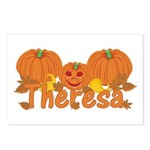 Halloween Pumpkin Theresa Postcards (Package of 8)