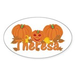 Halloween Pumpkin Theresa Sticker (Oval)