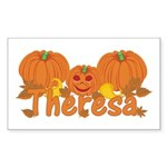 Halloween Pumpkin Theresa Sticker (Rectangle)