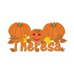Halloween Pumpkin Theresa 35x21 Wall Decal