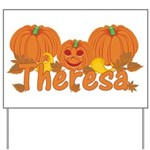 Halloween Pumpkin Theresa Yard Sign