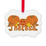 Halloween Pumpkin Theresa Picture Ornament