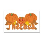 Halloween Pumpkin Theresa Car Magnet 20 x 12