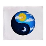 Day Night Yin Yang Throw Blanket
