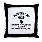 STRUT-N TURKEY CALLS Throw Pillow