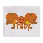 Halloween Pumpkin Tracy Throw Blanket