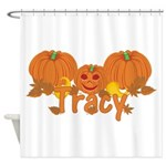 Halloween Pumpkin Tracy Shower Curtain