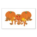 Halloween Pumpkin Tracy Sticker (Rectangle)