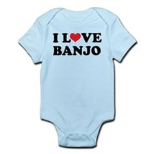 I Love Banjo Infant Bodysuit