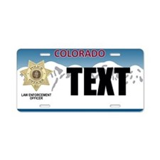 Colorado Police Officer Custom License Plate