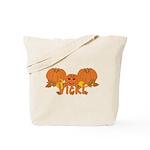 Halloween Pumpkin Vicki Tote Bag
